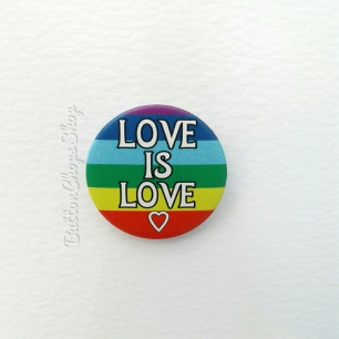 Love is Love, LGBT Gay Pride pin